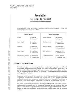 Exercices Anglais Concordance Des Temps Et Correction.pdf ...