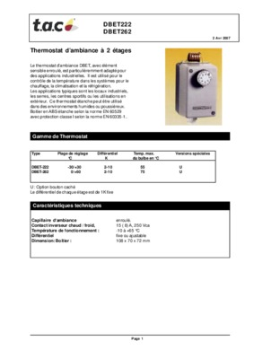 Thermostat ambiance thermoflash notice manuel - Thermoflash digi 2 ...