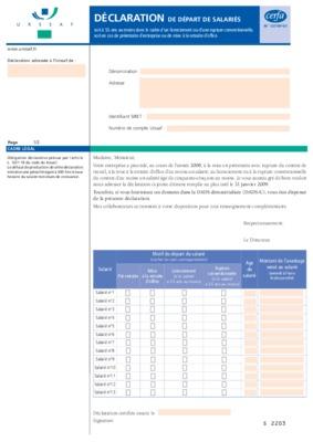 Declaration trimestrielle de recettes urssaf ile de france for Bordereau urssaf vierge imprimable