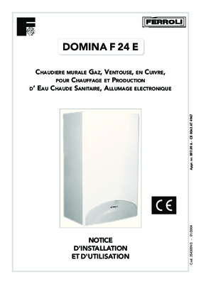 Ferroli domina notice manuel d 39 utilisation for Ferroli domina c 24 e