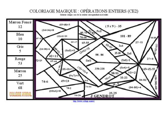 Coloriage magique ce1 singulier notice - Coloriage magique pdf ...