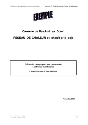Exemple De Contrat D Entretien Type Pour Une Chaudiere Gaz ...