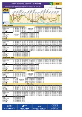 Horaires bus ratp paris notice manuel d 39 utilisation - Horaire cartreize ligne 51 ...